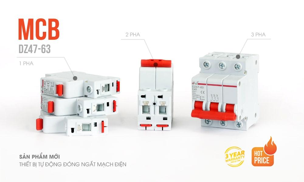 thiết bị tự đóng ngắt mạch điện mcb MHD
